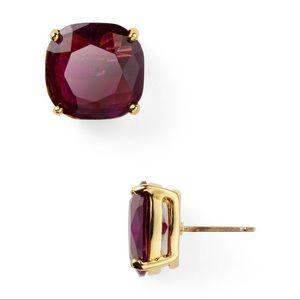Kate Spade Small Square Stud Earrings Plum Purple